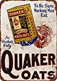 Quaker Oats Vintage Look Reproduction Metal Tin Sign 12X18 Inches