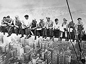 Amazon.com: LARGE Lunch atop a Skyscraper 1932 by Charles