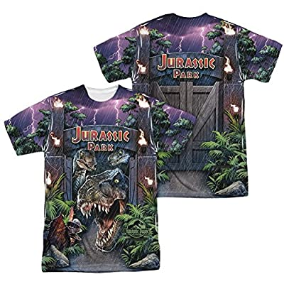 Jurassic Park Welcome To The Park All Over Print Front / Back T-Shirt