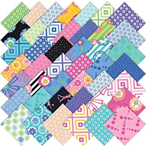 Moda Hubba Hubba Charm Pack, Set of 42 5-inch (12.7cm) Precut Cotton Fabric Squares
