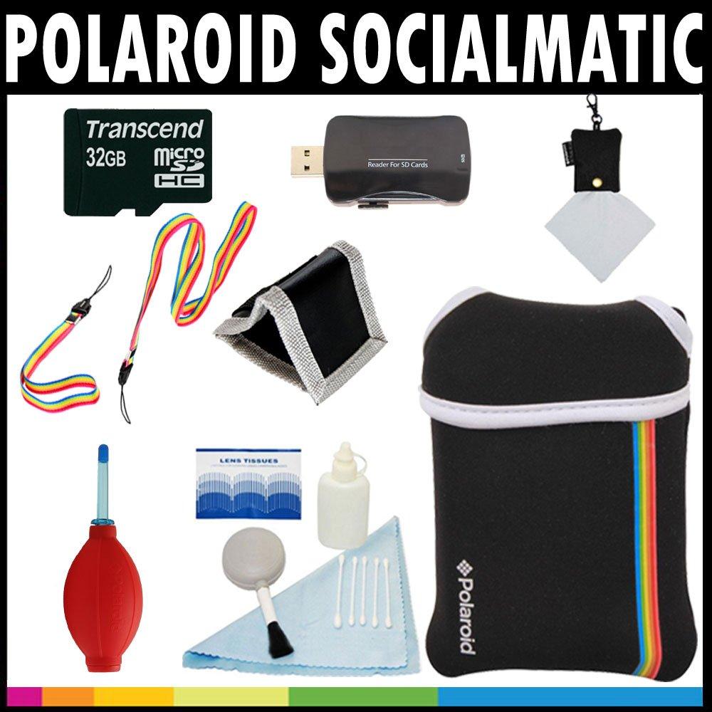 Polaroid Premium ESSENTIAL KIT For The Polaroid Socialmatic 14MP Wi-Fi Digital Instant Print & Share Camera - Great Holiday Add On Gift instagram socialmatic camera цена