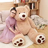 MaoGoLan Giant Teddy Bears Big Teddy Bear with Footprints Stuffed Animal Toys Life Size Plush Toy for Girlfriend Children (39 inch) (Tamaño: 39 inch)