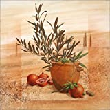 """Alu Dibond 50 x 50 cm: Granatapfel- und Oliven-Ernte von Franz Heiglvon """"Franz Heigl"""""""