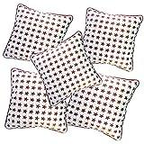 Belive-Me Stylish Velvet Stars White Cushion Covers (Set Of 5)