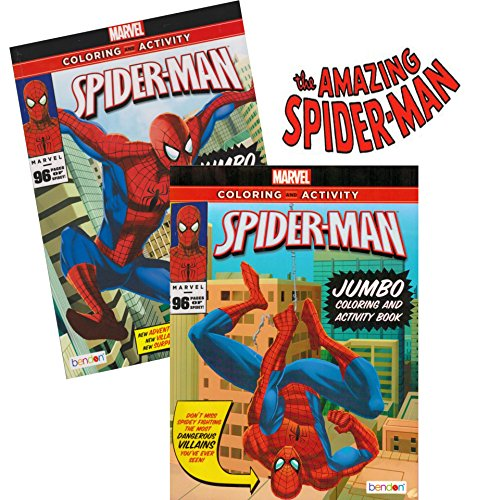 Spider-man Coloring & Activity Book Set (2 Books ~ 96 pgs each) - 1