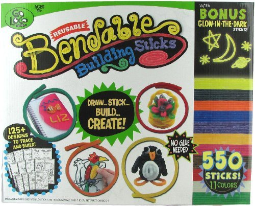 Bendable Reusable Building Sticks By Go Loco Brand