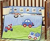 Dream On Me 3 Piece Reversible Portable Crib Set, Travel Time