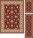 Universal Rugs 105140 Red 3 Pc. Set 5...