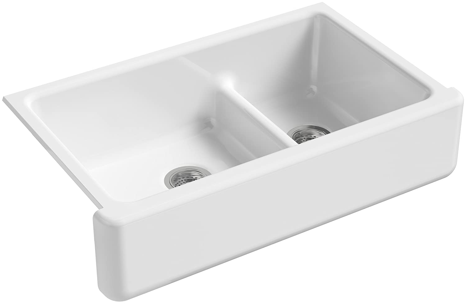 Apron Sink 36 : ... Apron-Front Double-Bowl Kitchen Sink with Tall Apron, 35-1/2-Inch X 21