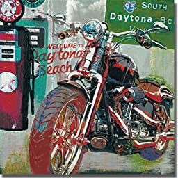 Daytona Beach by Ray Foster Stretched Canvas (Ready-to-Hang)