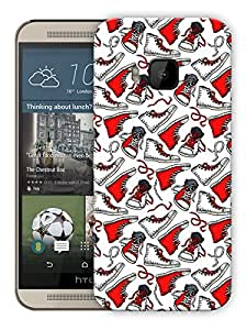 "Humor Gang Converse My Life - Red Printed Designer Mobile Back Cover For ""HTC ONE M9"" (3D, Matte, Premium Quality Snap On Case)"