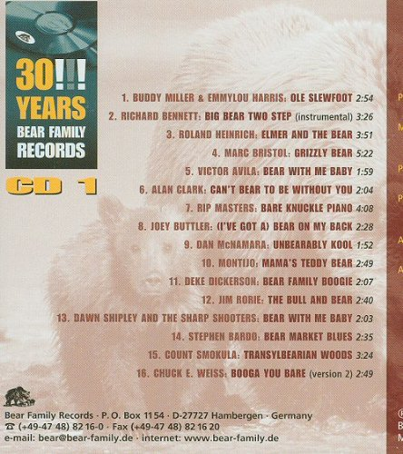 30!!! Years Bear Family Records by Ray Campi, Chuck E. Weiss, Emmylou Harris and Various Artists