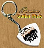 Simple Plan Keyring Bass Guitar Pick Both Sides Printed