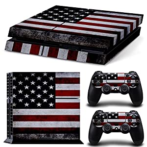GoldenDeal PS4 Console and DualShock 4 Controller Skin Set - USA Flag US - PlayStation 4 Vinyl