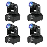 Lixada 4PCS LED Head Moving Light Rotating Moving Head DMX512 Sound Activated Master-slave Auto Running 11/13 Channels RGBW Color Changing Beam Light for Disco KTV Club Party (Color: RGBW, Tamaño: 4PCS)