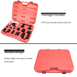 OrionMotorTech Master Ball Joint Press & U-Joint Puller Service Tool Set 21PCS - Upper and Lower Ball Joint Removal Tool Set