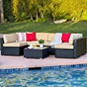Best Choice Products 7-Pc. Wicker Sectional Sofa
