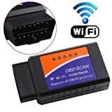 ZENHOX Elm327 WiFi OBDII Scanner OBD2 WiFi Adapter Vehicle Diagnostic Tool Interface Car Code Reader Check Engine Diagnostic Tool for iOS Android&Windows Devices (Color: Purple)