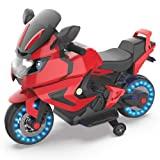HOVERHEART Kids Electric Power Motorcycle 6V Ride On Bike (Red) (Color: Red)
