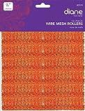 """Diane Mesh Hair Rollers Orange * Size 7/8"""" Diameter X 2-1/2"""" Long"""