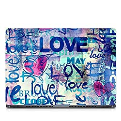Inktree Vinyl Love Matte Finish Adhesive Laptop Skin (15 inch x 10 inch, Mulicolor)