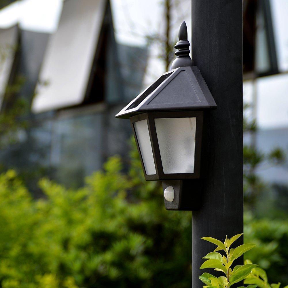 Easternstar LED Solar Wall Light Outdoor Solar Wall Sconces Vintage Solar Motion Sensor Lights Security Wall Lights For Outside Wall,Deck,Porch,Garden,Patio,Fence,Garage(1PCS) 3