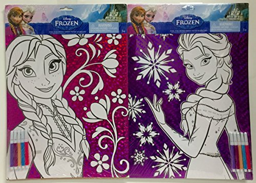 Disney Frozen Elsa & Anna Coloring Sheets, 2pk - 1