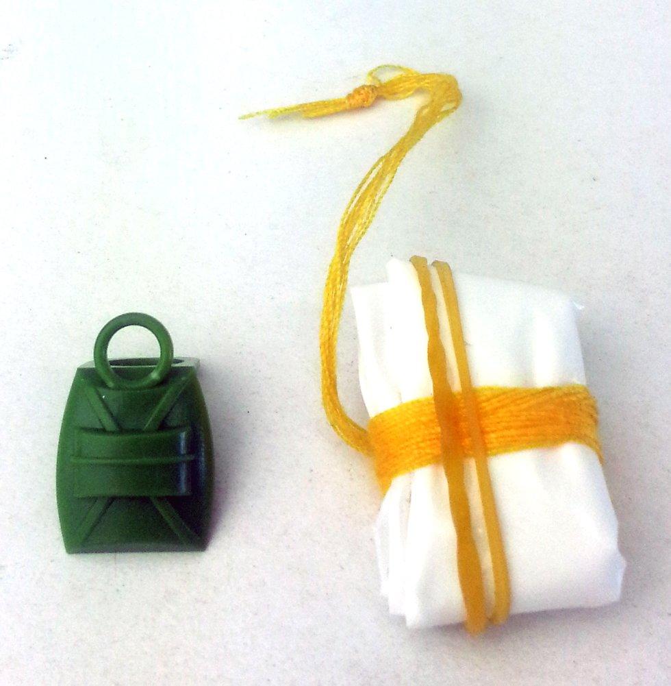 Modbrix 6329 – 5 x voll funktionsfähiger Fallschirm für Lego® Figuren (olivgrün) – Hergestellt in Deutschland! günstig als Geschenk kaufen