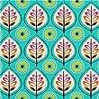 Tissu turquoise avec des feuilles par Michael Miller USA