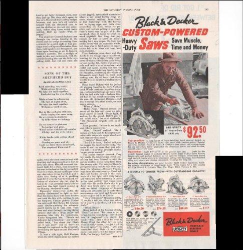 Black & Decker Portable Electric Tools Saws 1953 Vintage Antique Advertisement