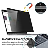 MacBook Pro 15 Privacy Screen Protector,Laptop Magnetic Privacy Screen Filter Anti Spy/Anti-Glare Compatible with MacBook Pro 15 inch mid 2012-2015(A1398),with Webcam Cover Slider&TPU Keyboard Cover (Tamaño: macbook pro 15.4 inch)