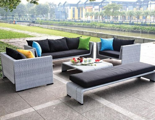 Patio Sets Clearance Tosh Furniture Outdoor Gray Sofa Set