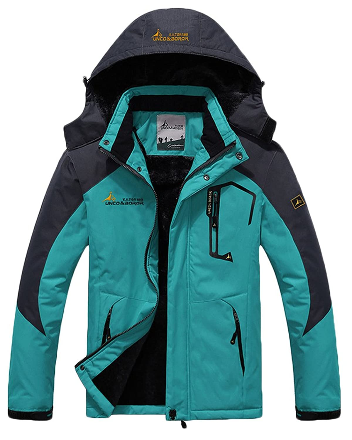HengJia Men's Waterproof Mountain Jacket Fleece Windproof Ski Coat