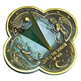 Rome 2340 Angel Sundial, Solid Brass with Verdigris Highlights, 9.75-Inch Diameter