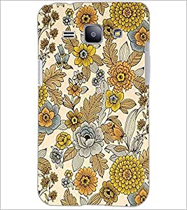 PrintDhaba Floral Design D-1443 Back Case Cover for SAMSUNG GALAXY J1 (Multi-Coloured)