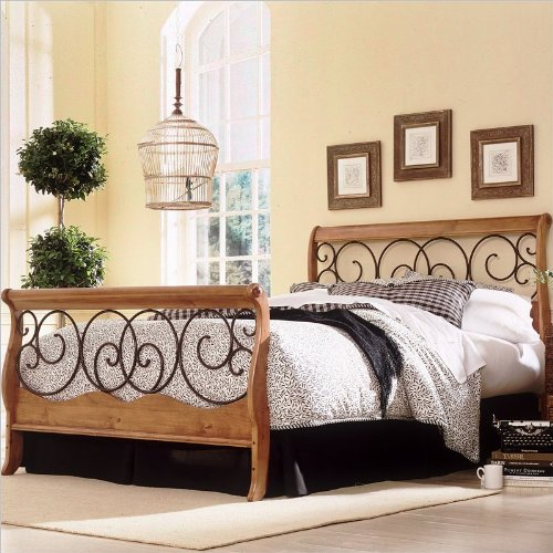 Dunhill Autumn Brown/Honey Oak Bed King front-905305