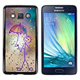 Shell Star Colorful Printed Hard Protective Back Case Cover Shell Skin for Samsung Galaxy A3 SM A300 Happy Rain Window Painting