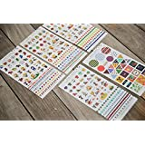 ONOR-Tech 5 Sheets Lovely Desorative Scrapbooking Crafts Diary Phone Sticker Adhesive