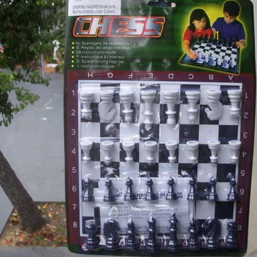 Chess Playing Board and Staunton Pieces 3+