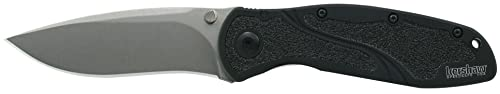 Kershaw S30V Blur Knife with Steel Blade with SpeedSafe