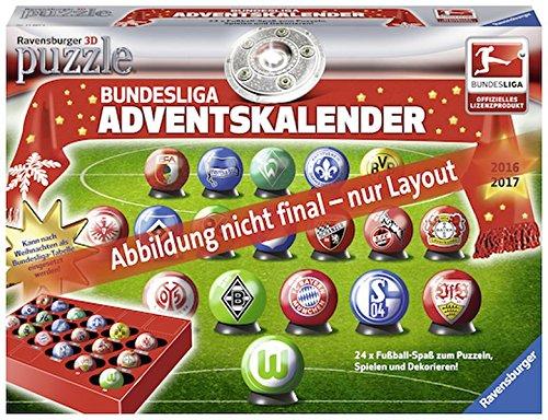 Adventskalender Bundesliga: Erlebe Puzzeln in der 3. Dimension