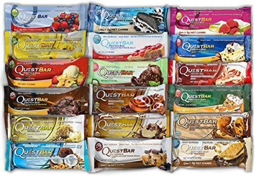 Quest Nutrition Protein Bars 18 Bars One of Every Flavor (Quest Protein Bar Variety Pack compare prices)