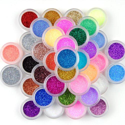 surepromise-45-colors-eyeshadow-makeup-nail-art-pigment-glitter-dust-powder-set