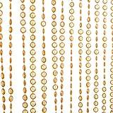 Koyal Wholesale Acrylic Beaded Panel Diamond Cut Curtain, 3-Feet by 6-Feet, Orange Tangerine