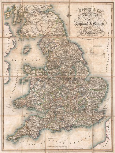 1830 PIGOT POCKET MAP ENGLAND AND WALES VINTAGE POSTER ART PRINT 12x16 inch 30x40cm 2884PY