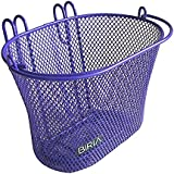 Basket with hooks PURPLE, Front, Removable, Children wire mesh SMALL Bicycle basket, NEW, PURPLE by Bikeandgo inc