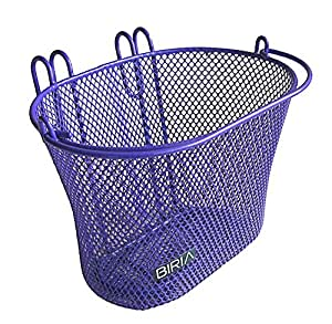 basket with hooks purple front removable children wire mesh small bicycle basket. Black Bedroom Furniture Sets. Home Design Ideas