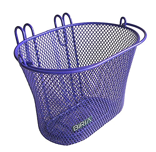 Purchase Basket with hooks PURPLE, Front , Removable, Children wire mesh SMALL Bicycle basket, NEW, PURPLE by Bikeandgo inc