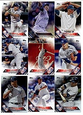 2016 Topps Series 2 Baseball New York Yankees Team Set of 13 Cards: James Pazos(#365), Dellin Betances(#369), Caleb Cotham(#530), Ivan Nova(#535), Nick Goody(#547), Alex Rodriguez(#566), Carlos Beltran(#567), Didi Gregorius(#583), Dustin Ackley(#619), Mic