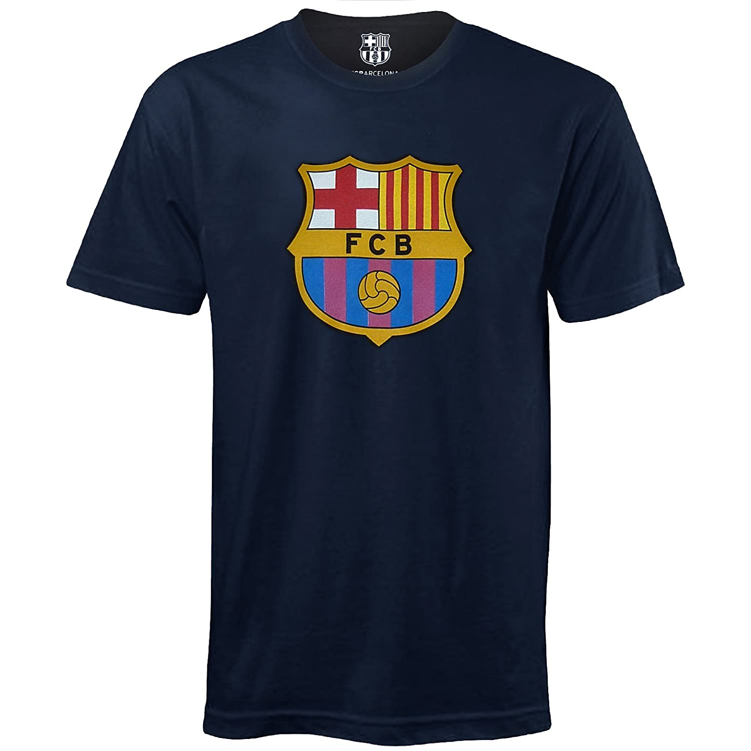 FC Barcelona Official Football Soccer Gift Mens Crest T-Shirt kelme official mens soccer jerseys soccer training suits paintless football jerseys custom football kits uniforms soccer set 63
